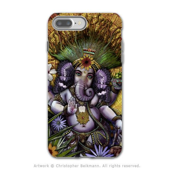 Ganesha Colorful Floral - Artistic iPhone 7 PLUS Tough Case - Dual Layer Protection - Ganesha Maya - iPhone 7 Plus Tough Case - Fusion Idol Arts - New Mexico Artist Christopher Beikmann