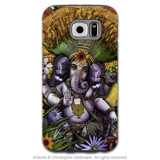 Ganesha Galaxy S6 Tough Case - Hindu-Mexican Inspired Floral Galaxy S6 case - Ganesha Maya