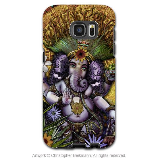 Ganesha Galaxy S7 Case - Ganesha Maya - Colorful Hindu-Mexican Floral Samsung Galaxy S7 Tough Case