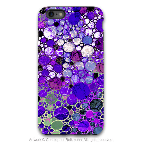 "Purple Abstract iPhone 6 6s Plus TOUGH Case - ""Grape Bubbles"" Artistic Case for iPhone 6 6s Plus - iPhone 6 6s Plus Tough Case - 1"