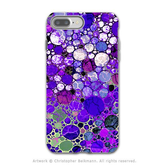 Purple Bubble Abstract - Artistic iPhone 7 PLUS Tough Case - Dual Layer Protection - Grape Bubbles - iPhone 7 Plus Tough Case - 1