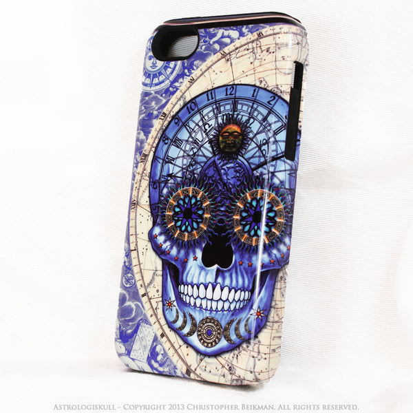 Blue Astrological Skull iPhone 5c TOUGH Case - Astrologiskull - Steampunk Skull iPhone case - iPhone 5c TOUGH Case - 2