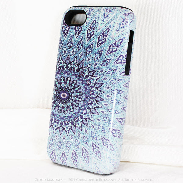 Cloud Mandala iPhone 5c case - Blue Zen Buddhist Abstract Art 5c Tough Case - iPhone 5c TOUGH Case - 2