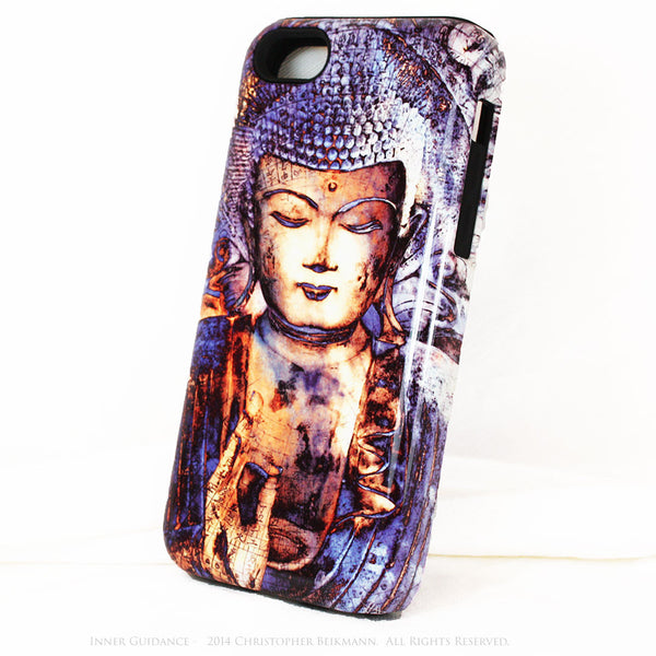 "Blue Buddha iPhone 5c TOUGH Case - Unique Buddhist Art ""Inner Guidance"" Zen Meditation iPhone 5c Case - iPhone 5c TOUGH Case - 2"