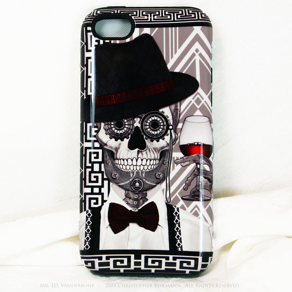 1920's Gentleman Sugar Skull iPhone 5c TOUGH Case - 1920s Art Deco Sugar Skull iPhone Case - Day of the Dead - Artistic Case For iPhone 5c - iPhone 5c TOUGH Case - 1