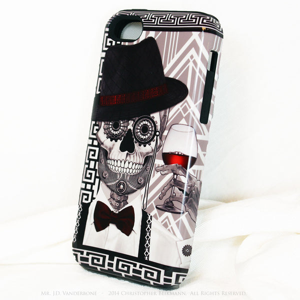 1920's Gentleman Sugar Skull iPhone 5c TOUGH Case - 1920s Art Deco Sugar Skull iPhone Case - Day of the Dead - Artistic Case For iPhone 5c - iPhone 5c TOUGH Case - 2
