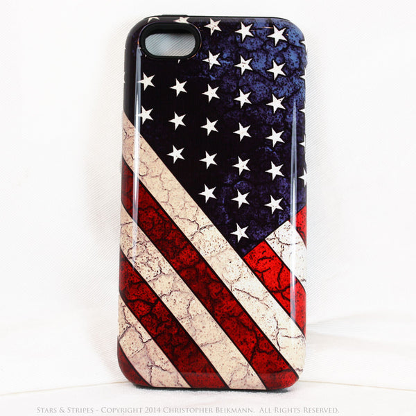 American Flag iPhone 5c TOUGH Case - Stars & Stripes - Distressed US Flag - Artistic Case For iPhone 5c - iPhone 5c TOUGH Case - 1