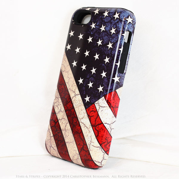 American Flag iPhone 5c TOUGH Case - Stars & Stripes - Distressed US Flag - Artistic Case For iPhone 5c - iPhone 5c TOUGH Case - 2