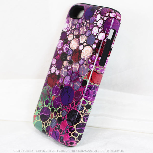 Premium Purple Abstract iPhone 5c TOUGH Case - Grape Bubbles - Dual Layer Case by Da Vinci Case - iPhone 5c TOUGH Case - 2