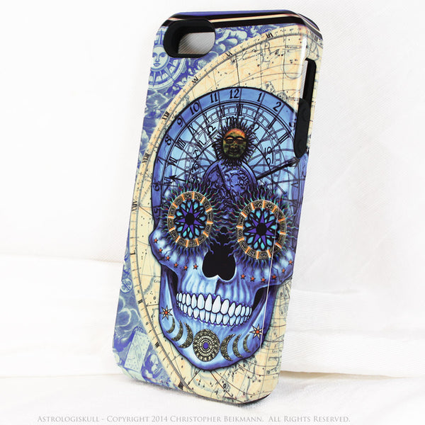 Blue Steampunk Skull iPhone 5s SE Case - Astrologiskull - Astrology skull case - Artistic Case For iPhone 5s SE - iPhone 5 TOUGH Case - 2