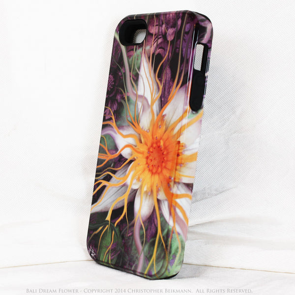 Artistic iPhone 5s SE TOUGH Case - Bali Dream Flower - Lotus Flower Art -  Artisan Case for iPhone 5s SE - iPhone 5 TOUGH Case - 2