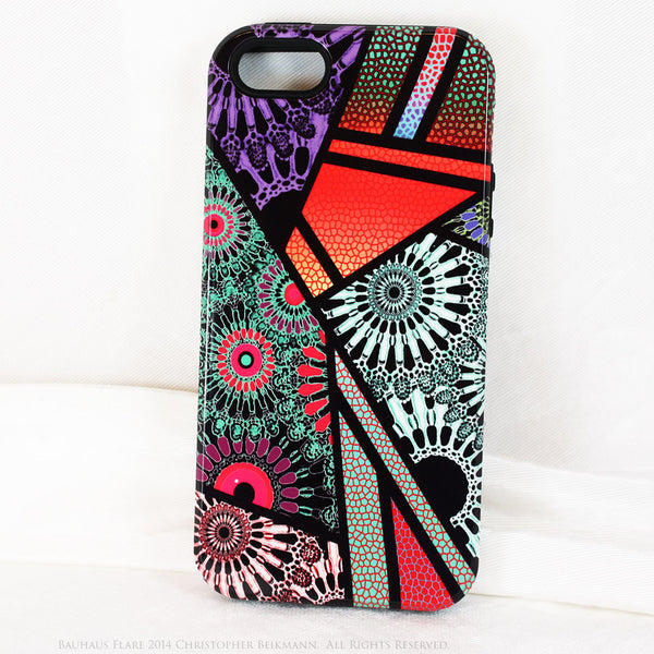 Unusual Modern Abstract iPhone 5s SE TOUGH Case - Bauhaus Flare - Artistic iPhone 5s SE Case - iPhone 5 TOUGH Case - 1