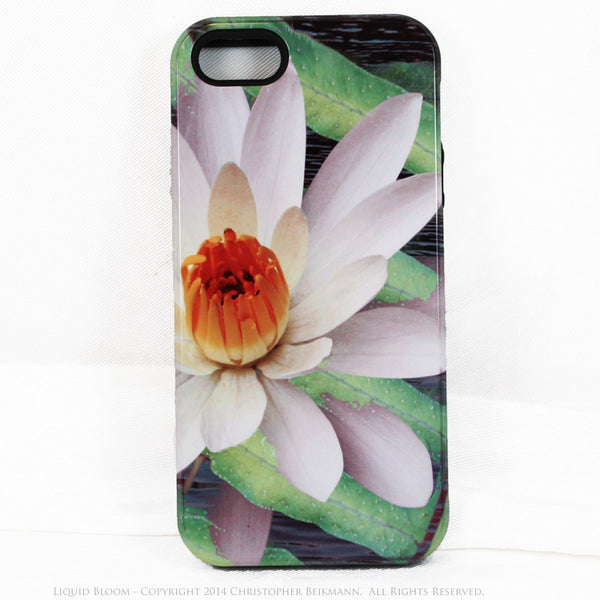 Artistic iPhone 5s SE TOUGH Case - Liquid Bloom - Lotus Flower Art -  Artisan Case for iPhone 5s SE - iPhone 5 TOUGH Case - 1