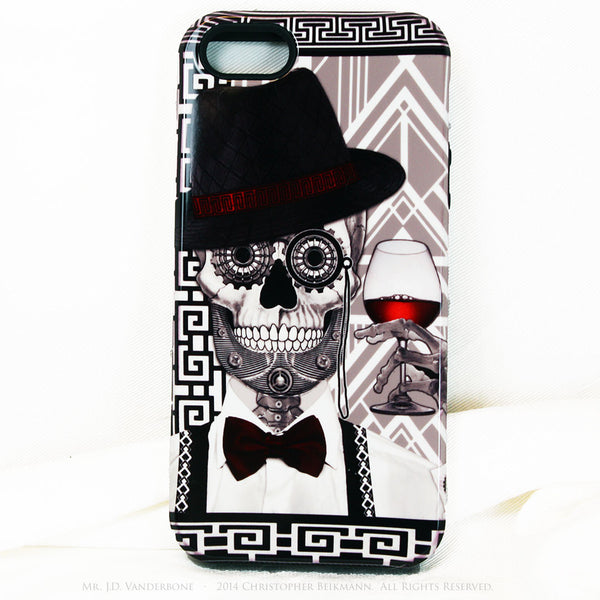 1920's Drunken Skull iPhone 5s SE TOUGH Case - Art Deco Sugar Skull iPhone Case - Day of the Dead - Artistic Case For iPhone 5s SE - iPhone 5 TOUGH Case - 1