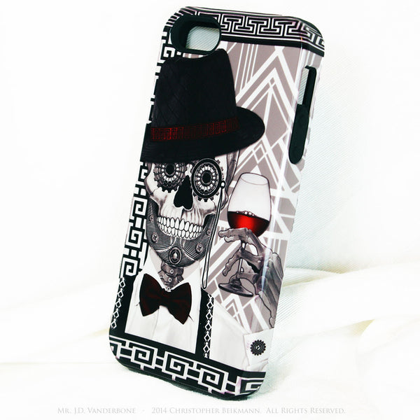 1920's Drunken Skull iPhone 5s SE TOUGH Case - Art Deco Sugar Skull iPhone Case - Day of the Dead - Artistic Case For iPhone 5s SE - iPhone 5 TOUGH Case - 2