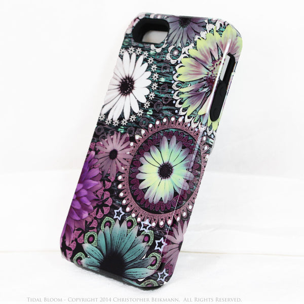 Purple Floral iPhone 5s SE TOUGH Case - Tidal Bloom - Paisley Floral Art - Artistic Case For iPhone 5s SE - iPhone 5 TOUGH Case - 2