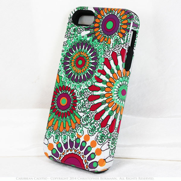 Colorful iPhone 5s SE TOUGH Case - Abstract Art - Caribbean Calypso - Artistic iPhone 5s SE Case - iPhone 5 TOUGH Case - 1