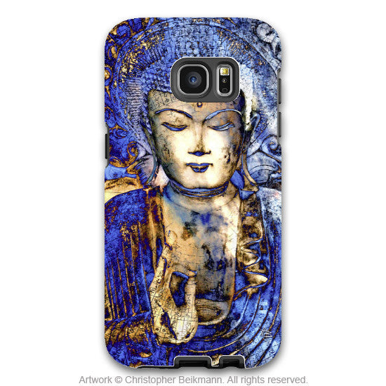 Blue Buddha Galaxy S7 Edge Tough Case - Inner Guidance - Zen Buddhist Samsung Galaxy S7 Edge Tough Case - Galaxy S7 EDGE TOUGH Case - 1