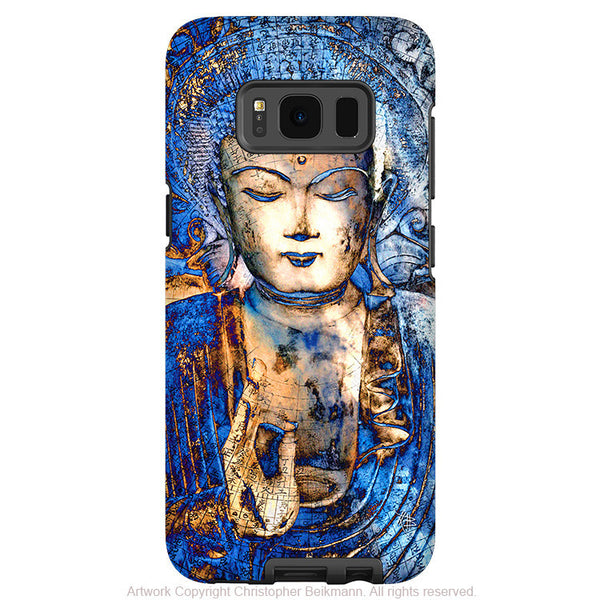 Blue Buddha Galaxy S8 Case - Inner Guidance - Zen Buddhist Samsung Galaxy S8 Case - Fusion Idol Arts