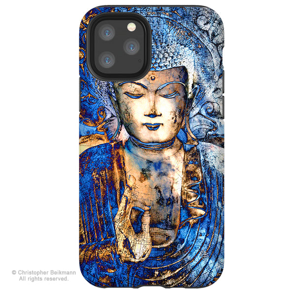 Inner Guidance - Blue Buddha iPhone 12 / 12 Pro / 12 Pro Max / 12 Mini Tough Case Tough Case - Dual Layer Protection for Apple iPhone XI - Buddhist Case