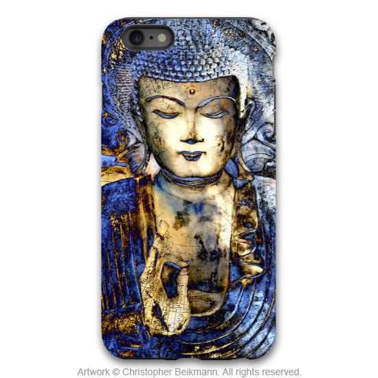 "Blue Buddha iPhone 6 6s Plus TOUGH Case - Buddhist Art ""Inner Guidance"" iPhone 6 6s Plus case - iPhone 6 6s Plus Tough Case - 1"
