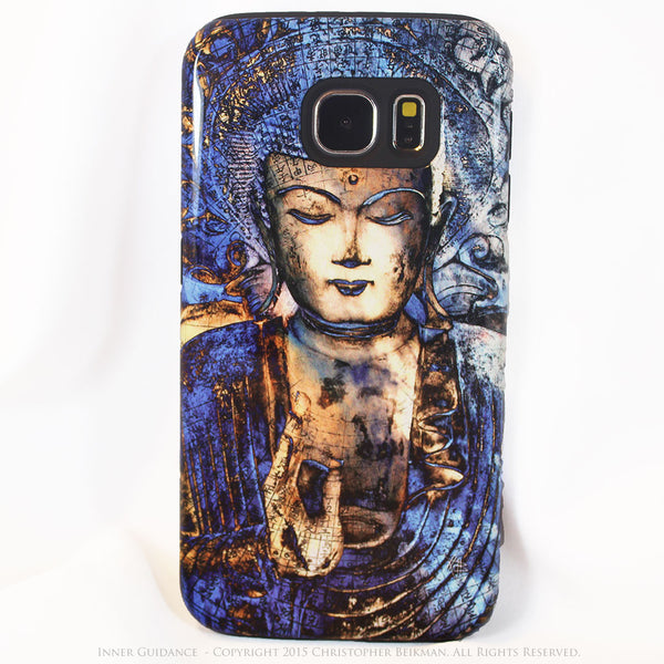 Blue Buddha Galaxy S6 Case - Inner Guidance - Zen Buddhist S6 Tough Case - Galaxy S6 TOUGH Case - 1