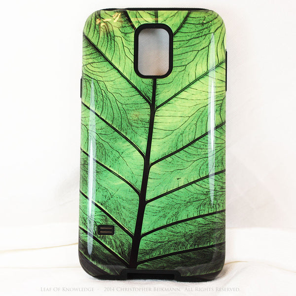 Premium Green Leaf Galaxy S5 case - Leaf of Knowledge - Artistic Nature S5 Tough Case - Galaxy S5 TOUGH Case - 1