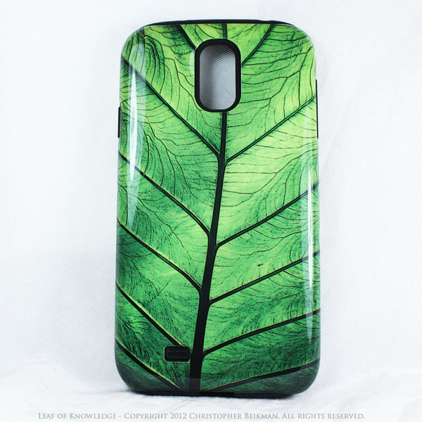 "Green Leaf Galaxy S4 case - TOUGH Style Protective Case - Artwork ""Leaf of Knowledge"" - Galaxy S4 TOUGH Case - 2"