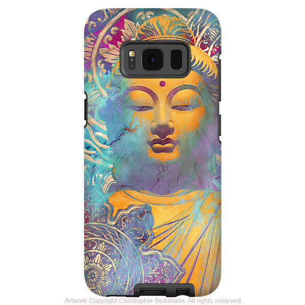Colorful pastel Buddha art - Artistic Samsung Galaxy S8 Tough Case - Dual Layer Protection - light of truth - Fusion Idol Arts