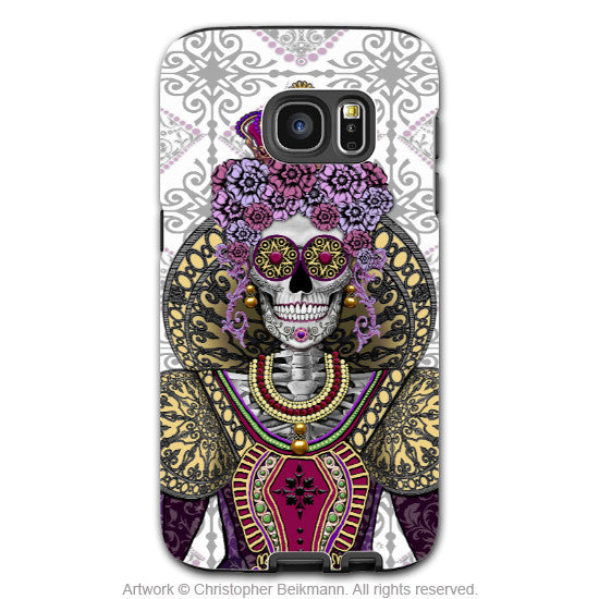 Sugar Skull Queen Galaxy S7 Edge Tough Case - Renaissance Days of the Dead S7 Edge Tough Case - Mary Queen of Skulls - Galaxy S7 EDGE TOUGH Case - 1