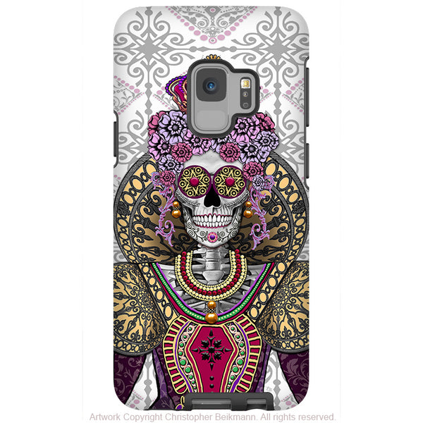 Mary Queen of Skulls - Galaxy S9 / S9 Plus / Note 9 Tough Case - Dual Layer Protection