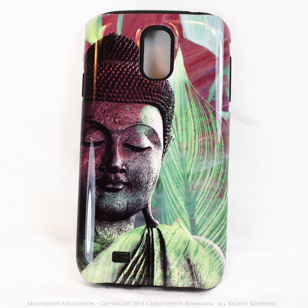 "Buddha Galaxy S4 case - TOUGH Style Protective Case - Meditation Artwork ""Meditation Vegetation"" - Galaxy S4 TOUGH Case - 1"
