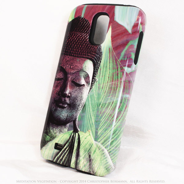 "Buddha Galaxy S4 case - TOUGH Style Protective Case - Meditation Artwork ""Meditation Vegetation"" - Galaxy S4 TOUGH Case - 2"