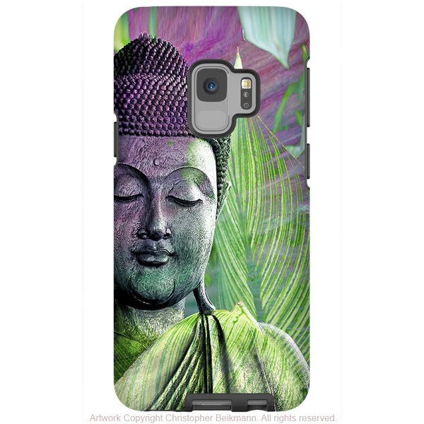Meditation Vegetation - Green Zen Buddha - Galaxy S9 / S9 Plus / Note 9 Tough Case - Dual Layer Protection for Samsung S9