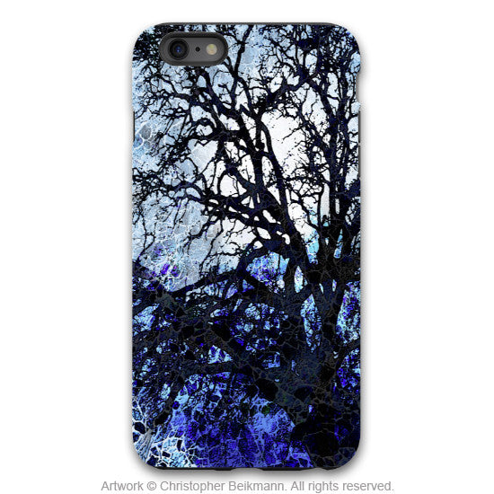 Moonlit Night iPhone 6 Plus / 6s Plus TOUGH Case - Blue and Black Tree Silhouette Art Case For iPhone 6s Plus - iPhone 6 6s Plus Tough Case - 1