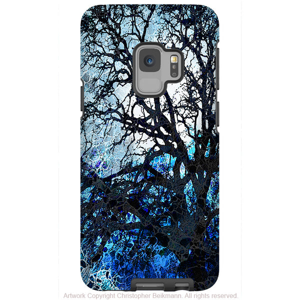 Moonlit Night - Galaxy S9 / S9 Plus / Note 9 Tough Case - Dual Layer Protection for Samsung S9 - Blue Tree Art Case