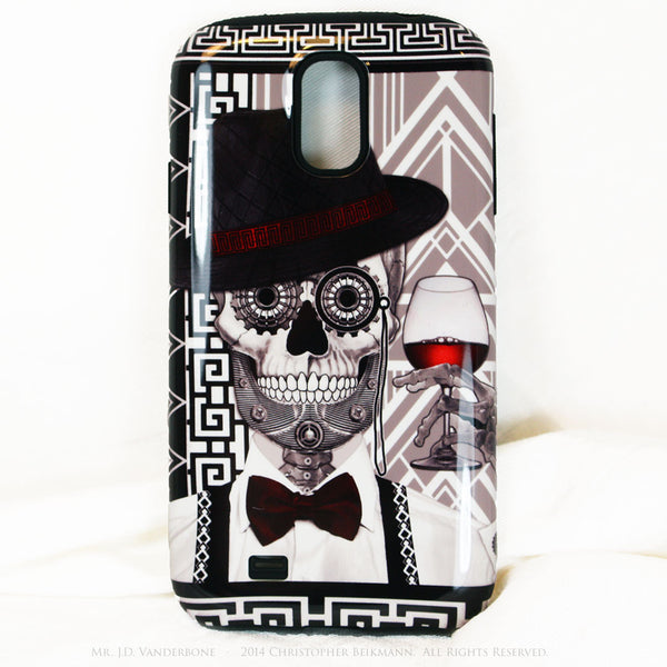 1920's Drunken Sugar Skull - Mr J.D. Vanderbone - Day of The Dead Art Galaxy S4 case - TOUGH style protective case - Galaxy S4 TOUGH Case - 1