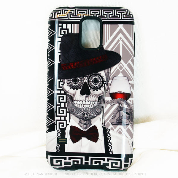 1920's Drunken Sugar Skull - Mr J.D. Vanderbone - Day of The Dead Art Galaxy S5 case - TOUGH style protective case - Galaxy S5 TOUGH Case - 1