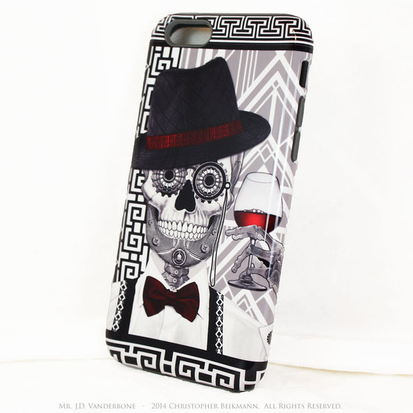 Sugar Skull iPhone 6 6s Plus TOUGH Case - Art Deco - Mr. JD Vanderbone - Day of the Dead Case - iPhone 6 6s Plus Tough Case - 2