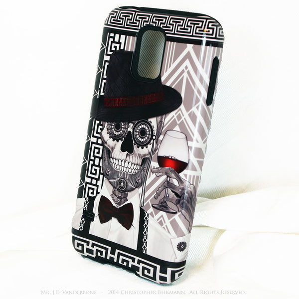 1920's Drunken Sugar Skull - Mr J.D. Vanderbone - Day of The Dead Art Galaxy S5 case - TOUGH style protective case - Galaxy S5 TOUGH Case - 2