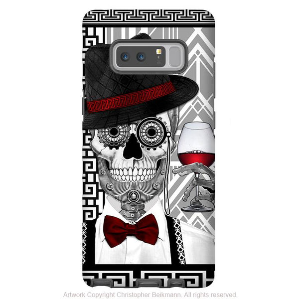 1920's Sugar Skull Galaxy Note 8 Case - Mr JD Vanderbone - Black and White Sugar Skull Note 8 Tough Case