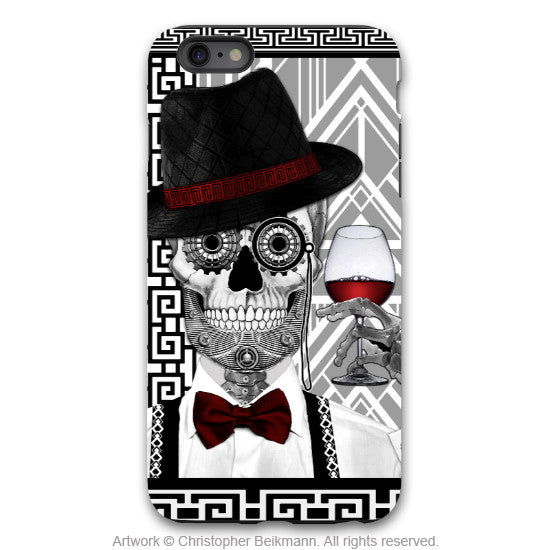 Sugar Skull iPhone 6 6s Plus TOUGH Case - Art Deco - Mr. JD Vanderbone - Day of the Dead Case - iPhone 6 6s Plus Tough Case - 1