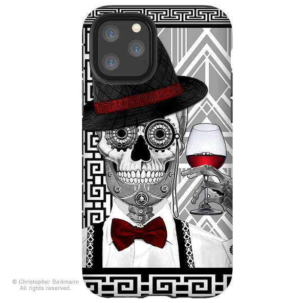 Mr JD Vanderbone - iPhone 11 / 11 Pro / 11 Pro Max Tough Case - Dual Layer Protection for Apple iPhone XI - 1920's Art Deco Sugar Skull