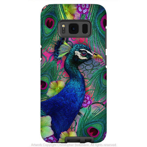 Colorful Peacock Floral - Artistic Samsung Galaxy S8 PLUS Tough Case - Dual Layer Protection - nemali dreams - Fusion Idol Arts