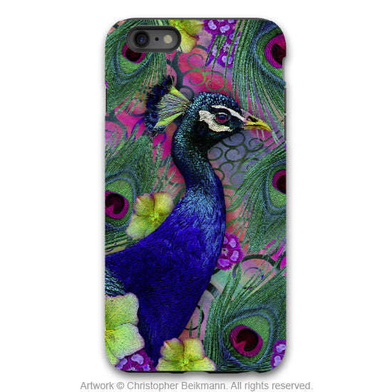 Peacock iPhone 6 6s Plus TOUGH Case - Nemali Dreams - Peacock Floral Art -  Artisan Case for iPhone 6 6s Plus - iPhone 6 6s Plus Tough Case - 1