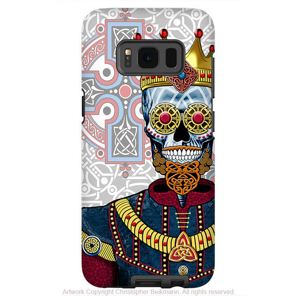 Sugar Skull Renaissance King - Artistic Samsung Galaxy S8 PLUS Tough Case - Dual Layer Protection - O'skully king of celts - Fusion Idol Arts