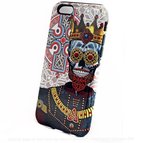 "Celtic Skull King iPhone 6 6s Plus TOUGH Case - ""O'Skully King of Celts"" Renaissance Sugar Skull case - iPhone 6 6s Plus Tough Case - 2"
