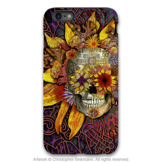 iPhone 6 6s Plus Floral Skull Case - Origins Botaniskull - Day of the Dead - Artistic Tough Case for iPhone 6 6s Plus - iPhone 6 6s Plus Tough Case - 1