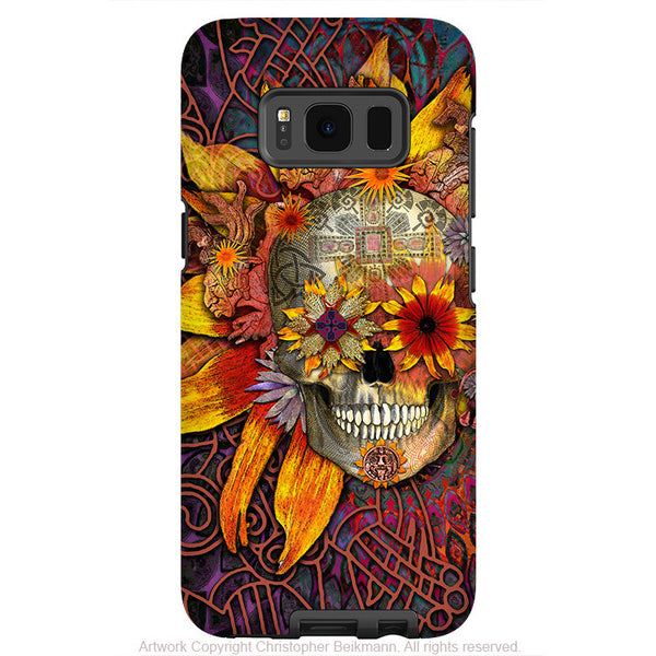 Floral Sugar Skull - Artistic Samsung Galaxy S8 PLUS Tough Case - Dual Layer Protection - Origins botaniskull - Fusion Idol Arts
