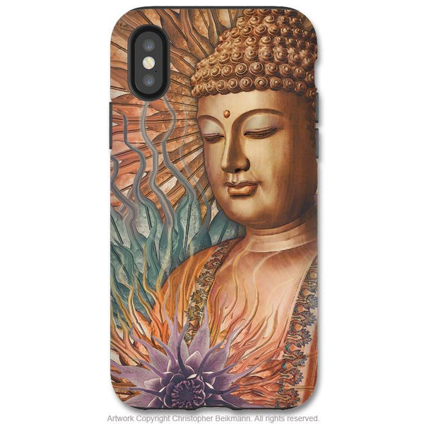 Proliferation of Peace Buddha - iPhone X Tough Case - Dual Layer Protection for Apple iPhone 10 - Zen Buddhist Art Case - iPhone X Tough Case - Fusion Idol Arts - New Mexico Artist Christopher Beikmann